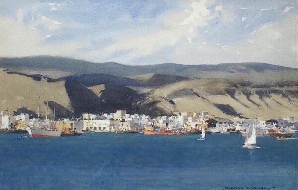 Norman Wilkinson Las Palmas in the Canary Islands watercolour