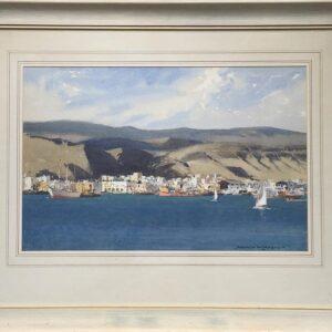 Norman Wilkinson Las Palmas in the Canary Islands framed