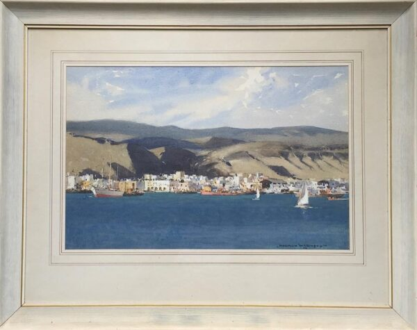 Norman Wilkinson Las Palmas in the Canary Islands framed