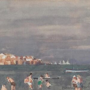 Norman Wilkinson Poole Harbour watercolour