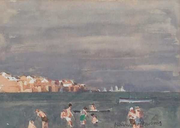 Norman Wilkinson Poole Harbour watercolour