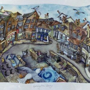 Wendy Brown Artist Lymington Quay Print