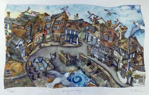 Wendy Brown Artist Lymington Quay Print