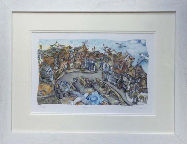 Wendy Brown Artist Lymington Quay Print Framed