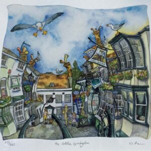 Wendy Brown Artist The Cobbles Lymington Print