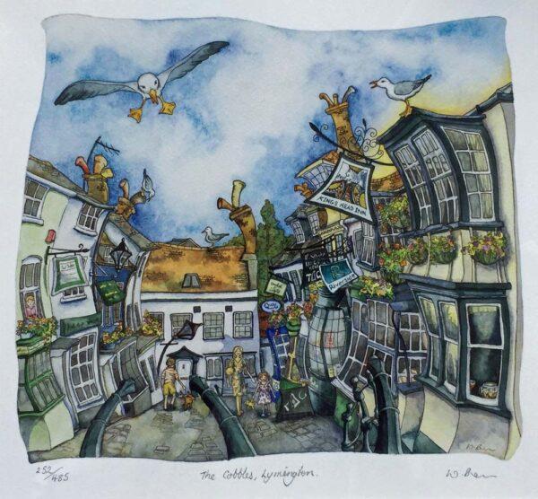 Wendy Brown Artist The Cobbles Lymington Print