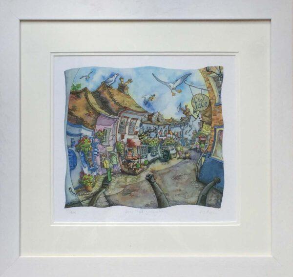 Wendy Brown Artist The Cobbles Lymington framed