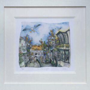 Wendy Brown Artist The Cobbles Lymington Print Framed