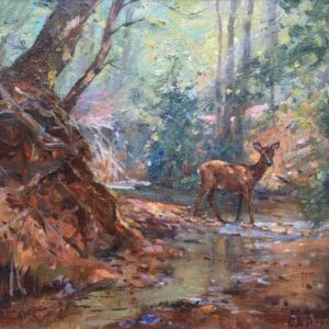 Barry Peckham New Forest Artist Deer