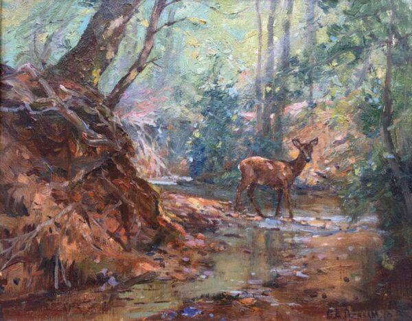 Barry Peckham New Forest Artist Deer