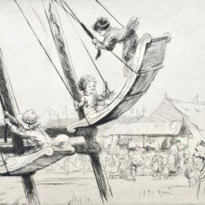 Eileen Soper Boat Swing 1924 Etching