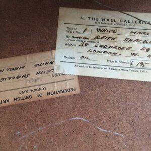 Keith Shackleton Marine Artist White Marlin Frame Label