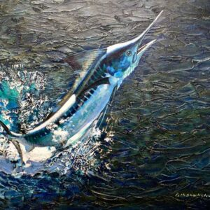 Keith Shackleton Marine Artist White Marlin