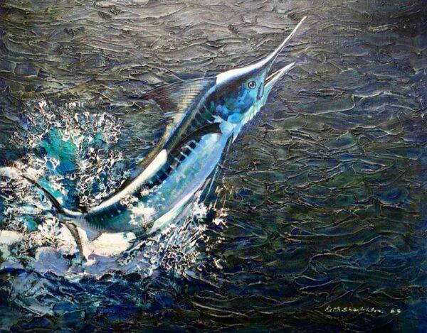 Keith Shackleton Marine Artist White Marlin