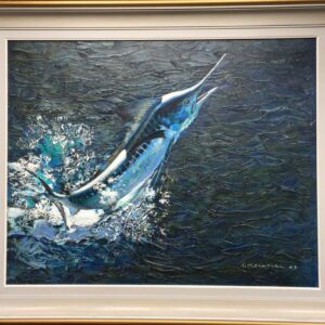 Keith Shackleton Marine Artist White Marlin Frame