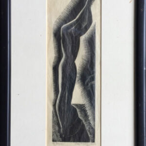 Leon Underwood Woodblock Diver