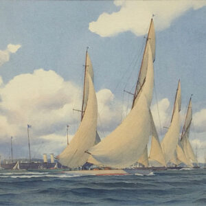 Martin Swan Marine Artist Yachts Racing off Cowes
