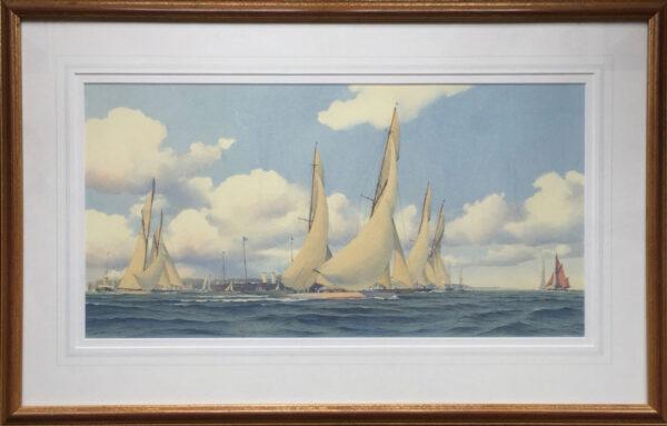 Martin Swan Marine Artist Yachts Racing off Cowes