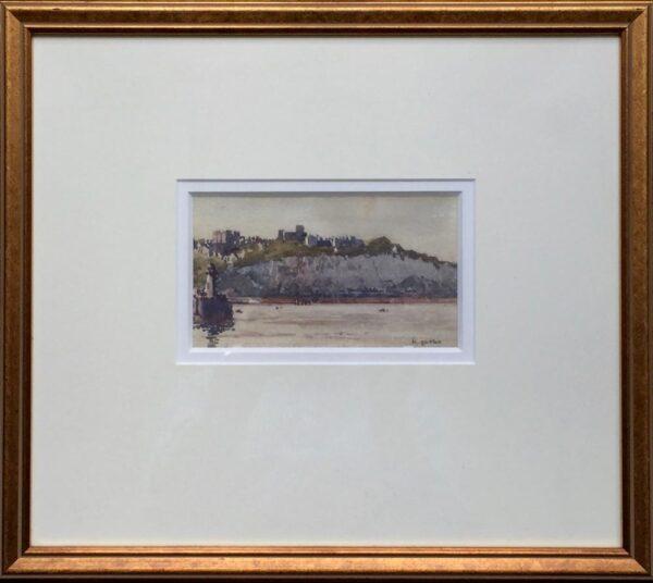 Norman Wilkinson Dover Castle Watercolour framed