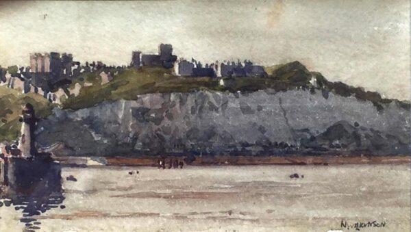 Norman Wilkinson Dover Castle Watercolour