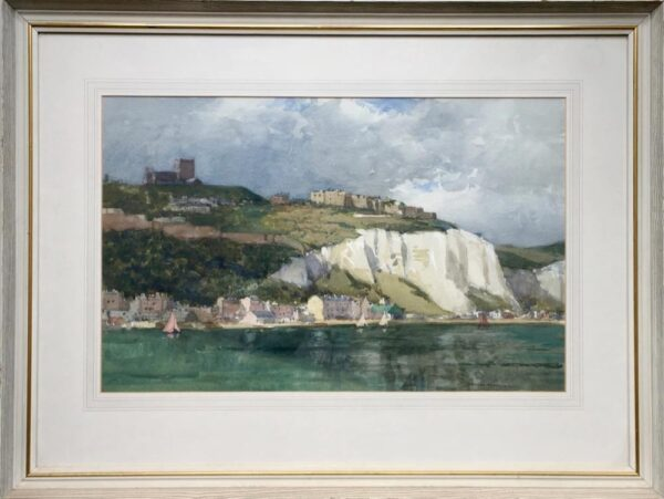 Norman Wilkinson Dover Harbour Watercolour Framed