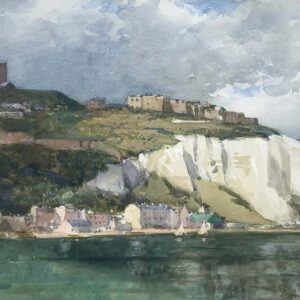 Norman Wilkinson Dover Harbour Watercolour