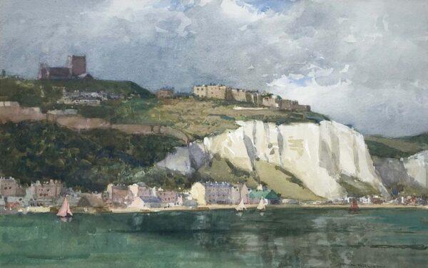 Norman Wilkinson Dover Harbour Watercolour