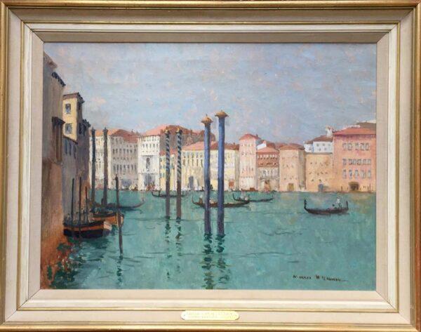 Norman Wilkinson Grand Canal Venice Original Oil Framed