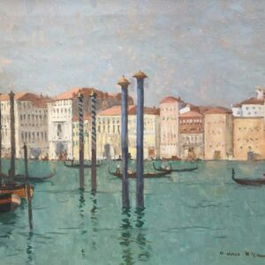 Norman Wilkinson Grand Canal Venice Original Oil