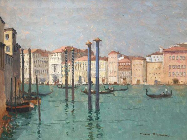 Norman Wilkinson Grand Canal Venice Original Oil