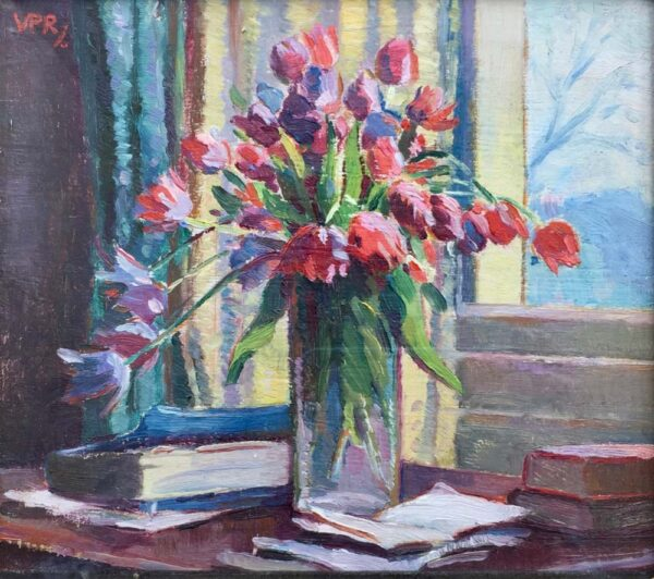 Victoria Patricia Ramsay Vase of Tulips Oil Painting