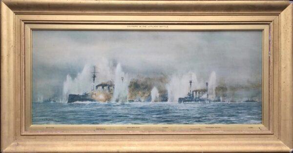 William Lionel Wyllie Battle of Jutland print