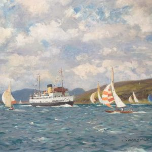 TS Queen Mary Paddle Steamer River Clyde by Norman Wilkinson