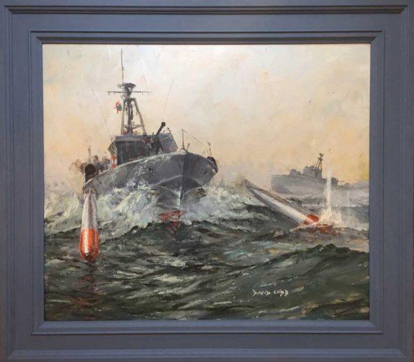 MTB Motor Torpedo Boat by marine artist David Cobb