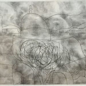 Ben Nicholson OM (1894 - 1982) Storm over Paros Signed Etching 1967 for sale