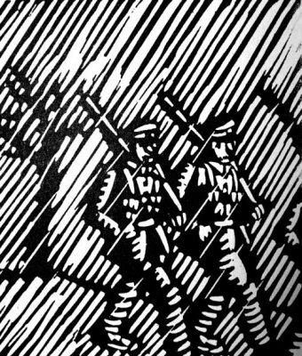 William Kermode Australian Artist Linocut WW1 Print Robert Perera