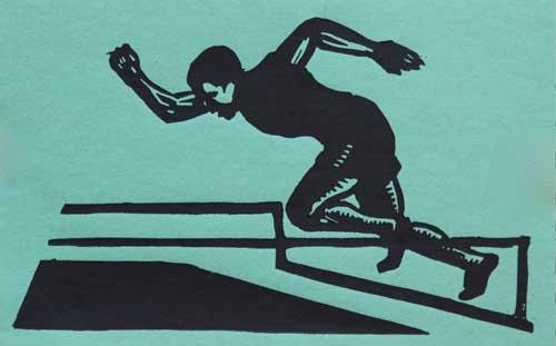 William Kermode Grosvenor School Artist Linocut Runner Print Robert Perera Fine Art