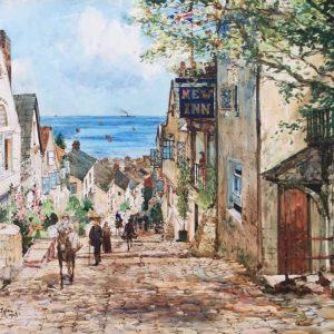 Charles Dixon ROI The New Inn Clovelly Cornwall 1924